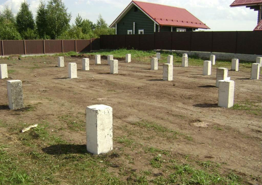 Свайное поле для дома